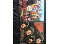 Beatles vinyl - st peppers lonely hearts club band and rubber soul
