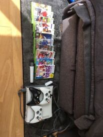 Xbox console 3 controllers 1 microphone multiple games bundle