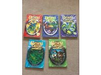 5 Beast Quest books
