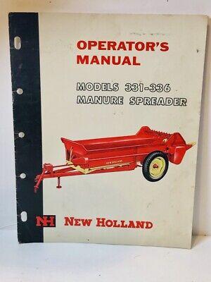New Holland Manure Spreader Models 331 336 Operators Manual