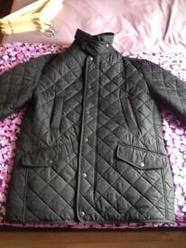 Barbour Bardon mens quilted jacket xl size fleece polarquilt lining