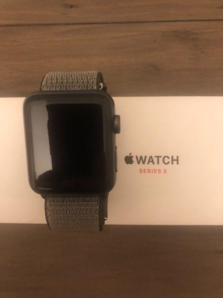 promo code f581d ab2a3 Apple watch Series 3 42mm Space Grey Cellular Dark Olive sports loop | in  Newton Abbot, Devon | Gumtree