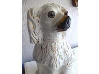 Great order. Antique Staffordshire Fireside Dog. China ornament. Vintage.