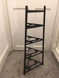 Black pot stand/storage shelf for sale - £15 very sturdy