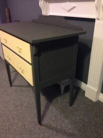 Graphite grey & yellow sideboard/hall table