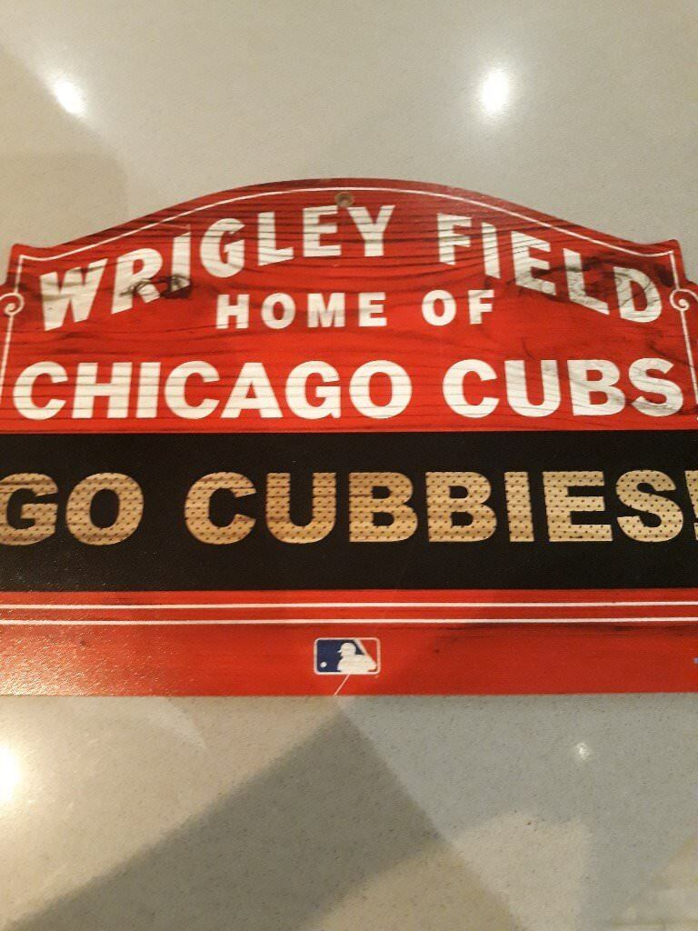 Chicago Cubs Wood Sign Wrigley Field Go Cubbies Decoration In Mill Hill London Gumtree