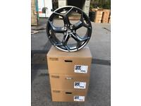 """4 18"""" alloy wheels alloys rims tyre tyres 5x108 Ford Focus mondeo st transit connect"""