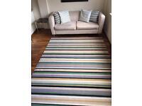 Striped Wool Area Rug