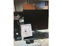24 x PC Optiplex 780 refurbished Box. Genuine Windows 7 New Dell Screen, Keyboard, Mouse