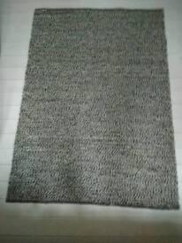 Grey Ikea Basna rug