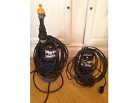 Fully submersible water pumps