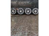 "4x 18"" 5x160 wolf racing alloy wheels"