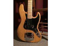 Original Vintage 1977 Fender Jazz Bass, Original Natural Finish. Serial: S739411. £2400 (ONO)