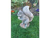 Stone garden squirrel statue, fantastic detail. New