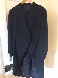 Vintage Gentleman's Black Bespoke Morning /Tailcoat Suit