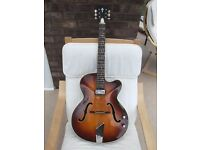Hofner Guitar:Senator type 66 single cutaway:Vintage 1966/67:Electro-acoustic:Road worn.