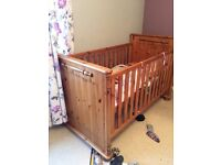 John Lewis pine cot and toddler bed