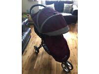 Baby Jogger City Mini stroller with matching cosy-toes