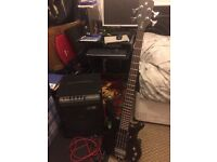 corvette $$ rockbass guitar, warwick 40 amp ,guitar stand bag and other accessories