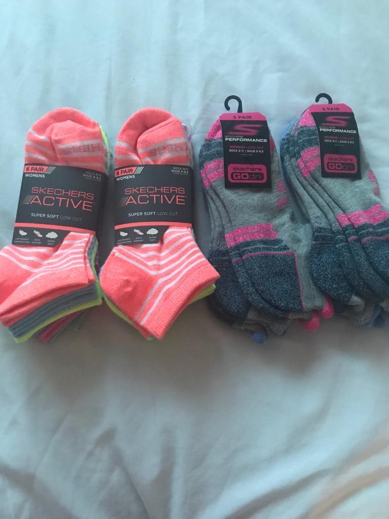 4 packs of Skechers ankle socks. Brand new