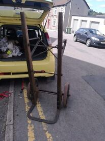 Vintage antique sack truck railway