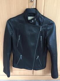 MICHAEL KORS Leather Biker Jacket Size 10/S