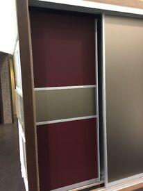 Bronze and Burgundy Sliding Wardrobe Doors