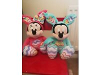 Mickey and Minnie Easter Bunny Plush