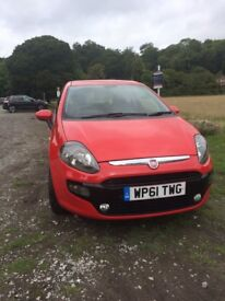 Red Fiat Punto Evo MyLife 1.2 8V 2012 with Full Service History and 6 Months MOT