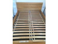 Double bed frame Ikea metric size