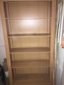 Wooden bookcase & cabinet