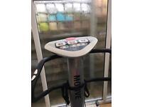 Vibrating fitness machine