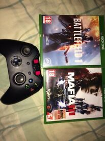 Xbox1 games and controller