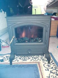 BURLEY CAST IRON ELECTRIC FIRE