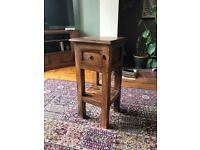 Solid oak occasional side table