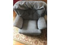 Child's armchair soft fabric Navy aged 3+