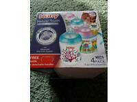 Nuby natural touch x 4 bottles