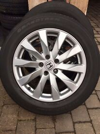 4 genuine Honda CR-V 18 inch wheels and tyres in great condition