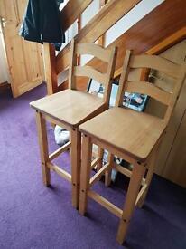 Pair of pine stools - like new