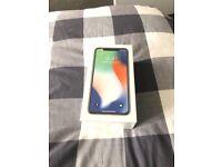 iPhone X silver 64GB sim free unlocked sealed