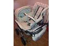 Burberry prams comes with rain covers and bag in good condition