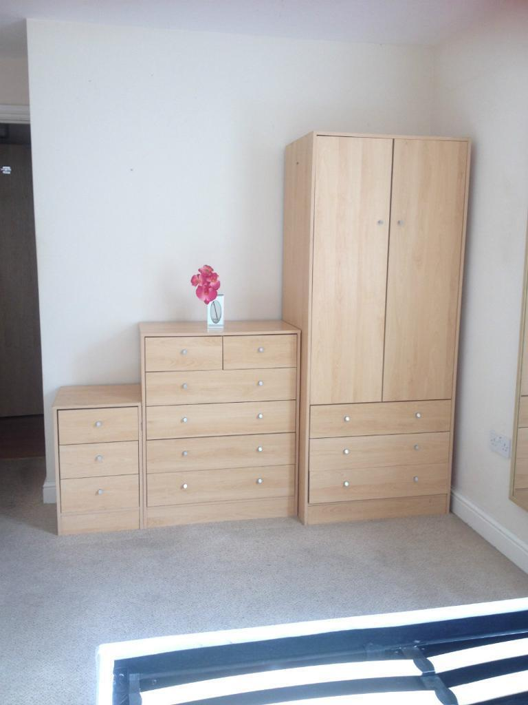 Argos Malibu Bedroom Furniture Set In Beech Full Size Mirror 145
