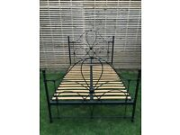 Very elegant black metal double bed frame, great quality