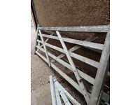 [10ft-3.04m] Timber diamond braced five bar Field Farm gate. FREE