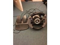 Super sports 3x steering wheel and pedals