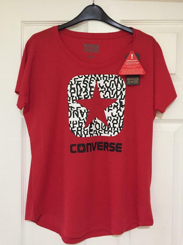 1933bfca7081 Ladies Converse T-Shirt size Medium
