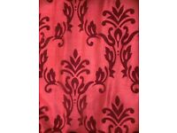 Stunning red curtains with pillowcases