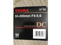 Sigma 55-200mm f4-5.6 Lens