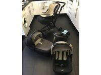 Jane Rider Baby Interchangable Travel system - Car seat, pram, flat transporter, isofix, footmuff