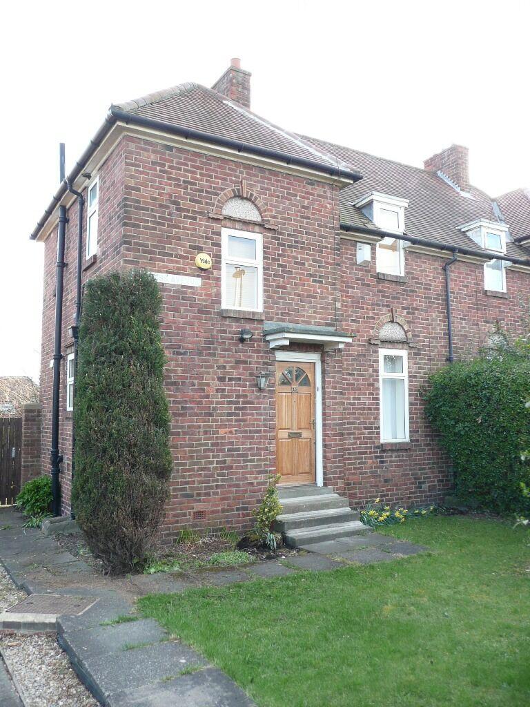 2 bed semi detached house to let/rent - cypress avenue - fenham